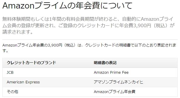 Amazonプライム会員年会費