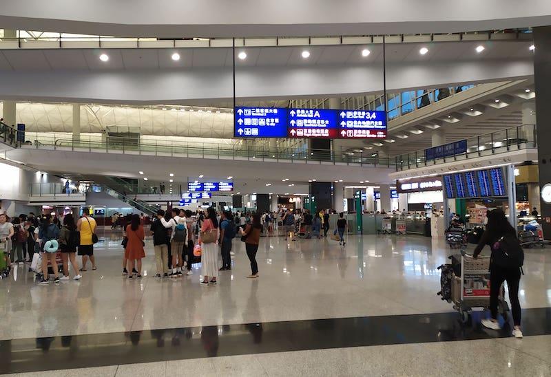 香港空港到着出口