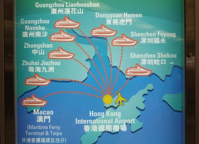 香港空港 中国 フェリー